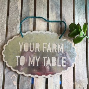 Farmhouse Metal & Wooden Sign